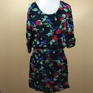Banana Republic Floral Medium Dress Black 👗